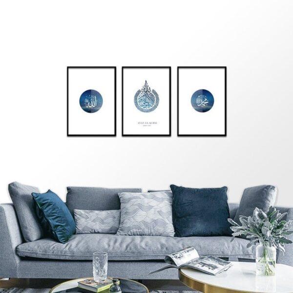 Beautiful Set of 3 Modern Islamic Prints-jimhaarts