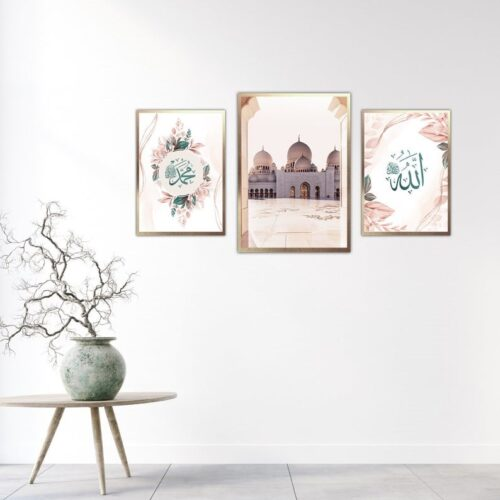 Beautiful set of 3 Islamic Prints-jimhaarts-mehedionion