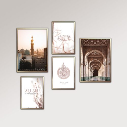 Set-of-5-Mosque-and-Quran-prints-jimhaarts