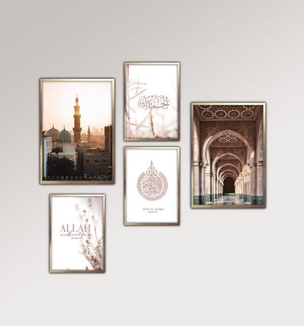 Set-of-5-Mosque-and-Quran-prints-jimhaarts
