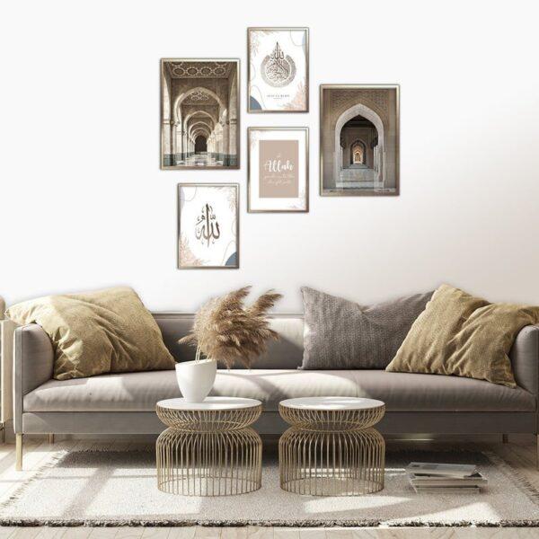 Set of 5 Mosque and Quran prints-mehedionion-jimhaarts